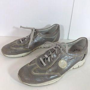 Mephisto Runoff Gray Metallic Sneakers